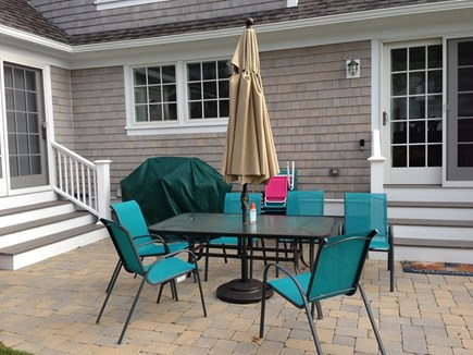 Popponesset, Mashpee Cape Cod vacation rental - Patio with grill in backyard