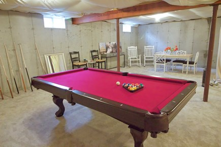 Popponesset, Mashpee Cape Cod vacation rental - Pool table in basement