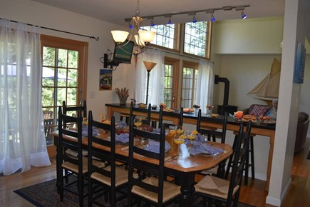 Chatham Cape Cod vacation rental - Kitchen view of family room.