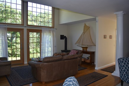 Chatham Cape Cod vacation rental - Family room view from living room; open floor plan.