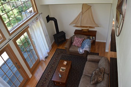 Chatham Cape Cod vacation rental - Family room view from loft.