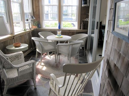 Harwich Port Cape Cod vacation rental - Sunny, breezy porch, ideal for breakfast, lunch and dinner