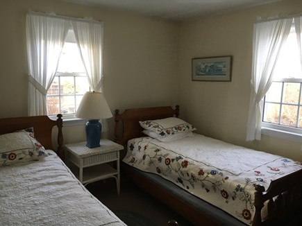 Harwich Port Cape Cod vacation rental - Downstairs bedroom - two twins and great breezes