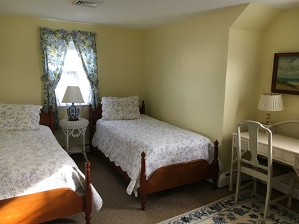 Harwich Port Cape Cod vacation rental - Upstairs Bedroom - two twins and great view of the ocean