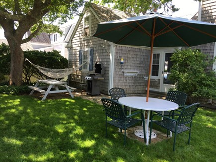 Harwich Port Cape Cod vacation rental - Private back yard - enjoy the hammock, and outdoor shower