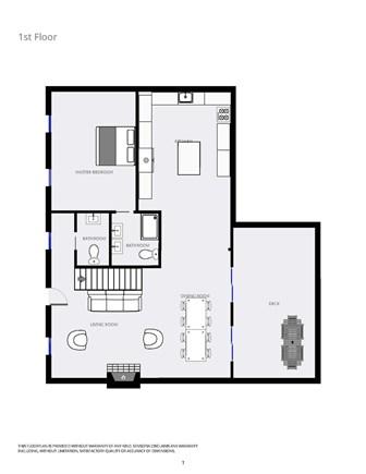 Chatham Cape Cod vacation rental - Main level floor plan