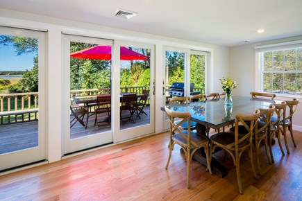 Chatham Cape Cod vacation rental - Big walk-out deck with sweeping views enhancesoutdoor living