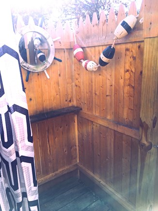 Falmouth Cape Cod vacation rental - Outdoor Shower and Changing Area