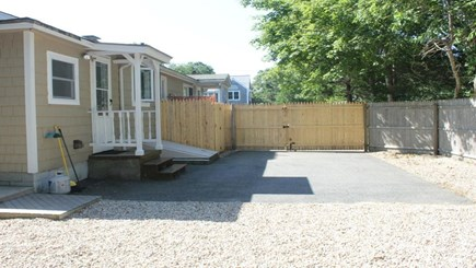 Falmouth Cape Cod vacation rental - Back door of home and private outdoor shower with changing area.