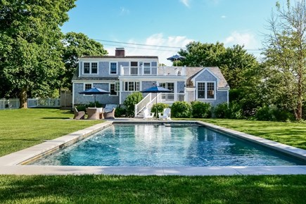 Chatham, In Town Cape Cod vacation rental - Backyard with pool and hot tub