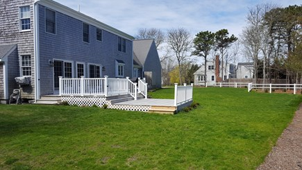 Chatham Cape Cod vacation rental - Beautiful sprawling backyard with two-tier deck