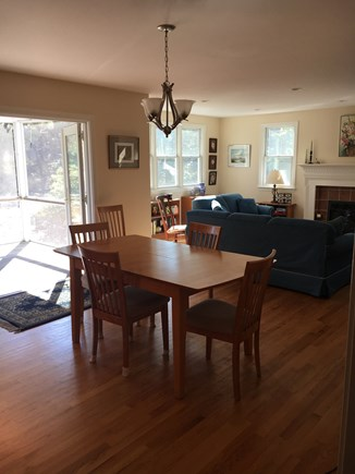 Eastham Bayside Cape Cod vacation rental - Dining Area with Access to Screen Porch