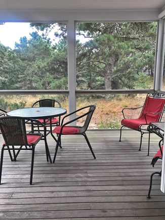 Eastham Bayside Cape Cod vacation rental - Screen Porch