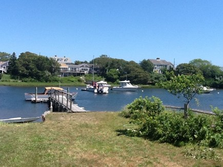 West Harwich Cape Cod vacation rental - Lower yard and private dock