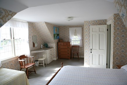 West Harwich Cape Cod vacation rental - 2nd floor bedroom with double and one twin. Nantucket Sound view.
