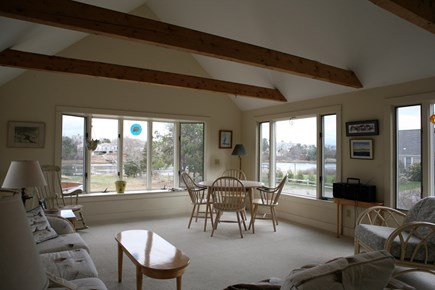 West Harwich Cape Cod vacation rental - Sun room with river view