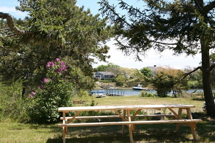 West Harwich Cape Cod vacation rental - View from upper back yard
