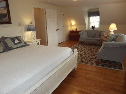 Chatham Cape Cod vacation rental - Sitting Area in Second Floor Bedroom with King Bed