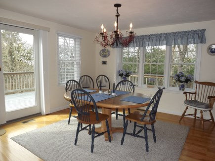 Chatham Cape Cod vacation rental - Dining Area with Seating for up to 8 People and Slider to Deck