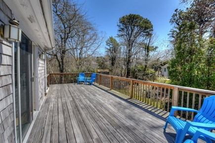 East Sandwich Cape Cod vacation rental - Back deck of Dining area.