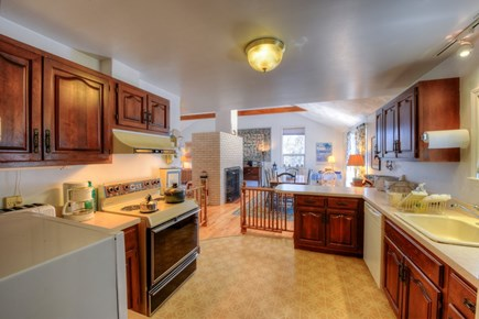 East Sandwich Cape Cod vacation rental - Spacious Kitchen opens to dining area.