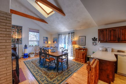 East Sandwich Cape Cod vacation rental - Dining area opens to back deck.