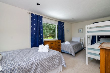 Brewster Cape Cod vacation rental - Bunk room w 1 full bed and 3 twins