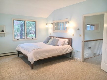 Brewster Cape Cod vacation rental - Upstairs King Room connects to 3 season room w/ lake views