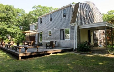 Eastham Cape Cod vacation rental - Back deck -- now with hot tub (not yet pictured!)