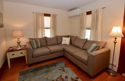 Brewster Cape Cod vacation rental - Comfy living room with sectional, flat screen TV and AC