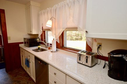 Brewster Cape Cod vacation rental - Full kitchen with coffee maker, toaster, dishwasher and microwave