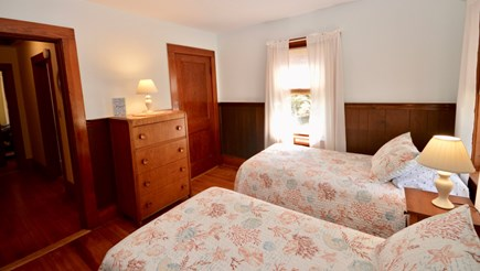Brewster Cape Cod vacation rental - Bedroom with 2 twins off of kitchen, lots of light