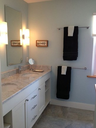 Wellfleet Cape Cod vacation rental - Double sink vanity in both master baths