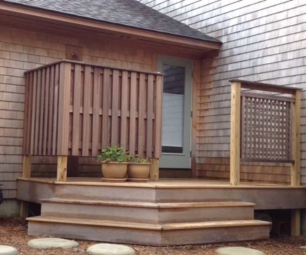 Wellfleet Cape Cod vacation rental - Back-door to outdoor deck and shower