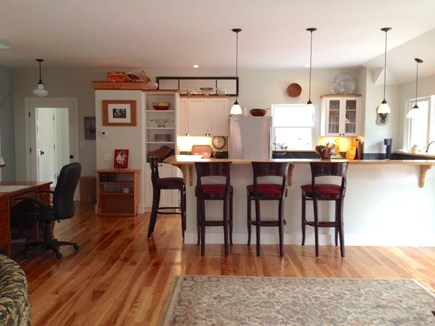 Wellfleet Cape Cod vacation rental - A bar with 4 stools to dine or watch your Top Chef
