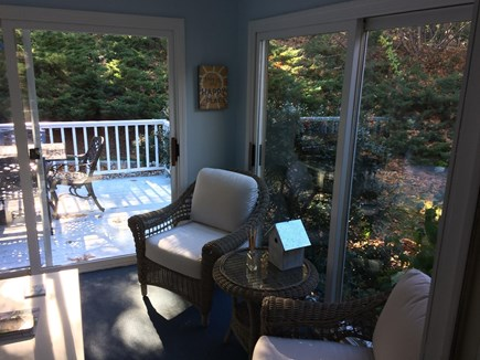 East Dennis Cape Cod vacation rental - Sun-room - Favorite room of the house...