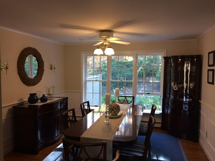 East Dennis Cape Cod vacation rental - Dining Room - Enjoy the natural lighting and large table!