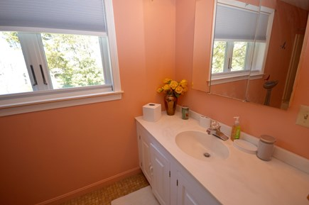 Brewster Cape Cod vacation rental - Master bathroom with tub/ shower combo