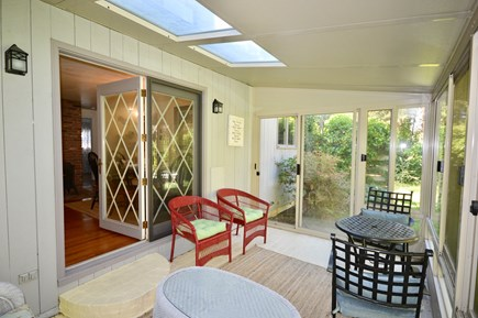 Brewster Cape Cod vacation rental - 3 season porch/sunroom with 3 walls of glass
