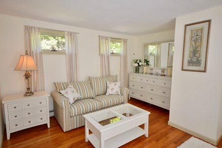 Brewster Cape Cod vacation rental - Master sitting area with full sleeper