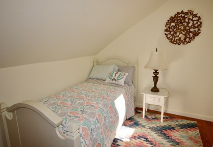 Brewster Cape Cod vacation rental - Third bedroom on upper level with twin bed, trundle and AC