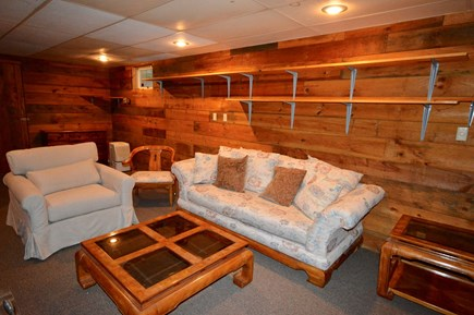 Brewster Cape Cod vacation rental - Bonus basement room with TV and laundry