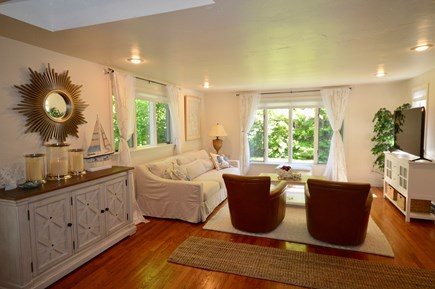 Brewster Cape Cod vacation rental - Spacious living room with large flat screen TV and AC