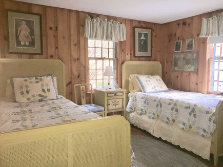 Brewster Cape Cod vacation rental - 1st Bedroom on First Floor with 2 Twins.  Can be pushed together.