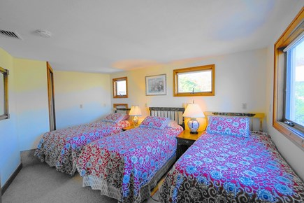 South Yarmouth Cape Cod vacation rental - Beautiful Bedroom with three twin beds on the 2nd floor