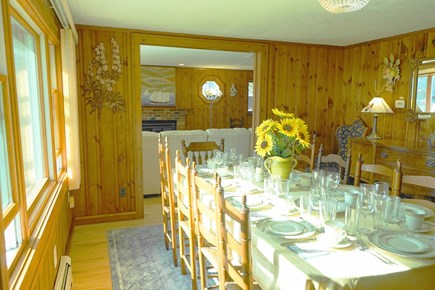 South Yarmouth Cape Cod vacation rental - Formal Dining room for 10 guests conveniently open to Living room