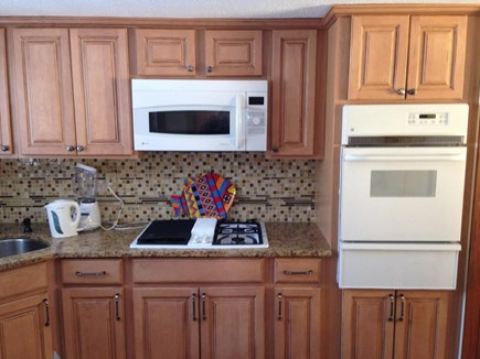 South Yarmouth Cape Cod vacation rental - The cooktop, microwave and oven