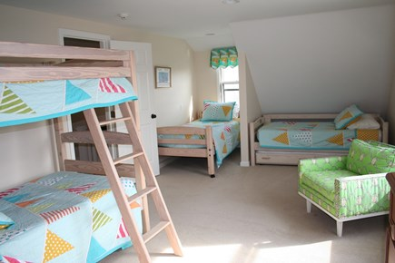 Oceanfront Residential Hyannis Cape Cod vacation rental - Bunk Room with 5 Twins and a Secret Playroom!