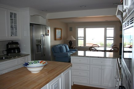Oceanfront Residential Hyannis Cape Cod vacation rental - Kitchen and Keeping Room with Ocean Views...Enjoy your coffee!