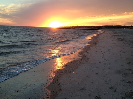 Oceanfront Residential Hyannis Cape Cod vacation rental - The Sunset From Our Beach